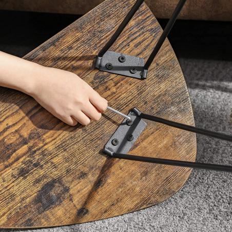 Set 2 Masute Vintage, Maro, 60 x 38 x 47.5 cm