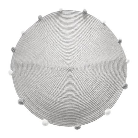 Covor Gri Pom Pom D90 cm