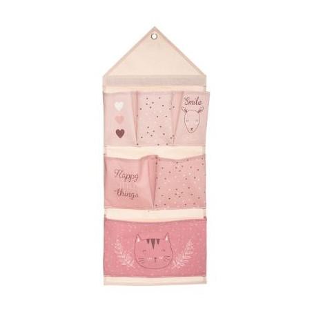 Decoratiune Agatatoare Cu 6 Buzunare Roz