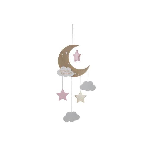 Decoratiune Agatatoare Pink Moon