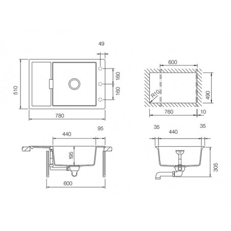 Set chiuveta bucatarie Schock Mono D-100XS si baterie bucatarie Schock Laios Cristadur Polaris 78 x 51 cm-01