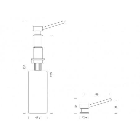 Dozator detergent lichid Schock Amur Crom-01