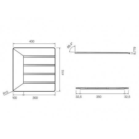 Scurgator vase Schock din silicon negru mat-01