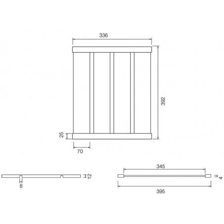 Suport scurgator Schock inox 39,2 cm-01