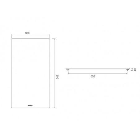 Tocator Schock pentru chiuvete cu latime de 500 mm fibra de piatra-01