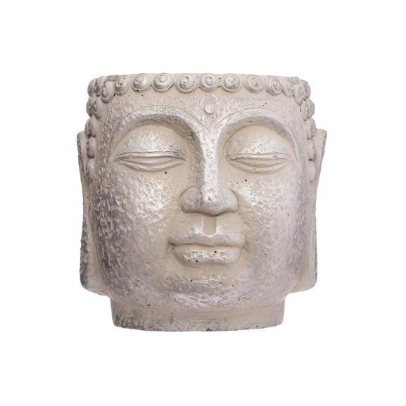 Ghiveci Cap Buddha H17,5 cm Crem