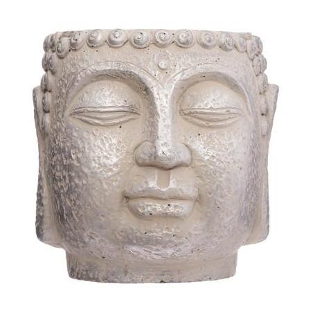 Ghiveci Cap Buddha H17,5 cm Crem-01