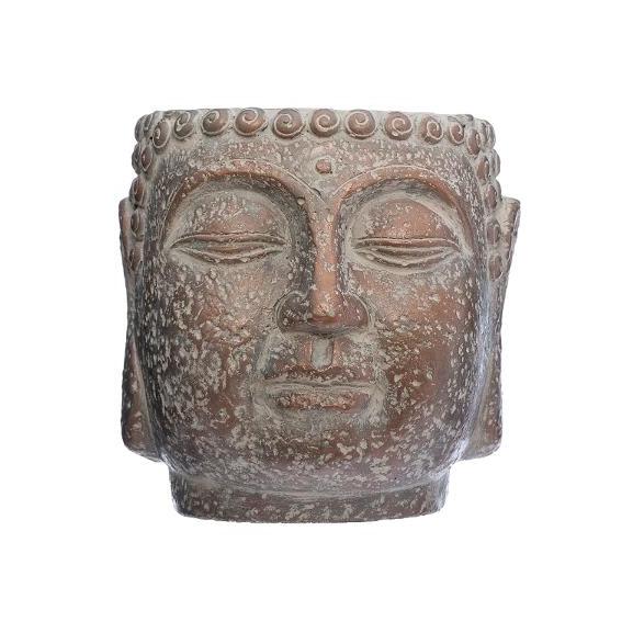 Ghiveci Cap Buddha H17,5 cm Maro