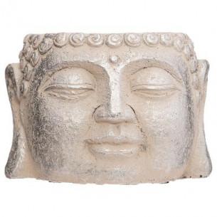 Ghiveci Cap Buddha H9 cm Crem