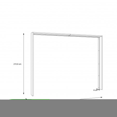 Rama Dulap Olinda, Stejar Artisan, 280,6 X 23,8 X 215,9 cm-01