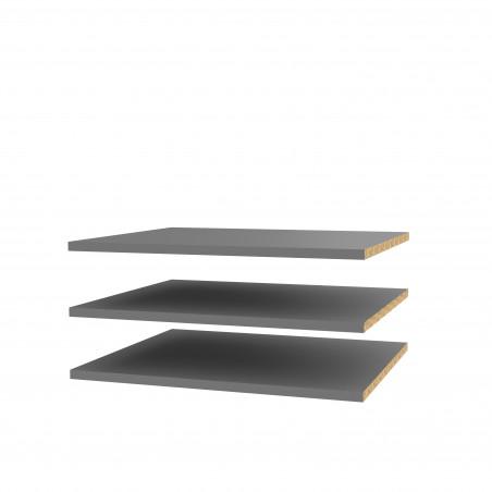 Set 3 Polite Dulap Olinda, Gri, 47,8 X 42 cm-01