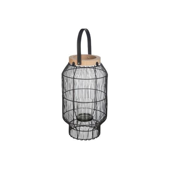 Lanterna Metal & Wood H31,5 cm