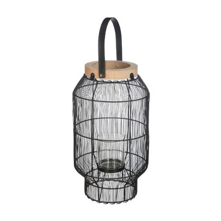 Lanterna Metal & Wood H31,5 cm-01