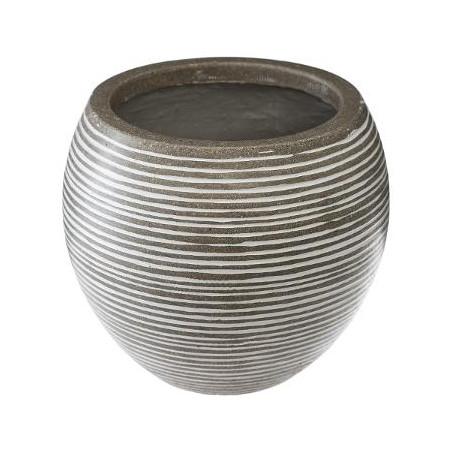 Set 3 Ghivece Ceramice Rotund Gri Deschis-01