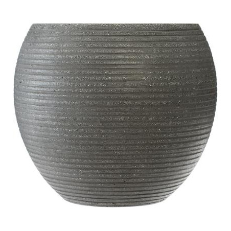 Set 3 Ghivece Ceramice Rotund Gri-01