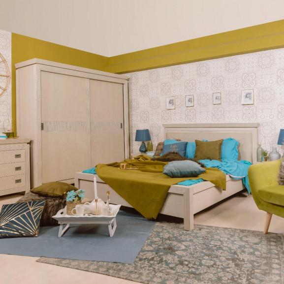 Dormitor Casablanca, Pat 1600 mm.