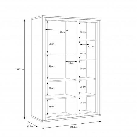 Vitrina Joasa Rigmor, 101,4 x 154,5 x 41,5 cm-01