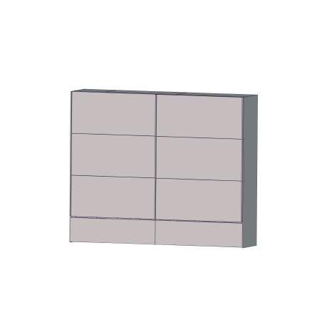 Dulap Cristopher, Alb, 220,1 x 61,2 x 210,5 cm-01
