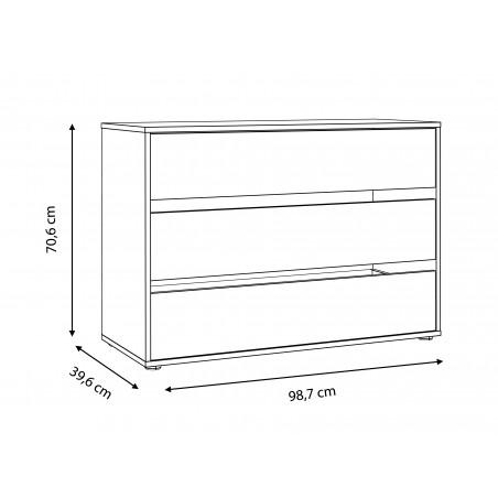Comoda Interior Dulap Olivier, 98,7 x 39,6 x 70,6 cm-01