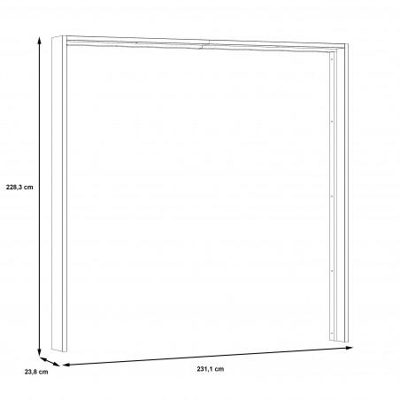 Rama Dulap Olivier, 231,1 x 23,8 x 228,3 cm-01