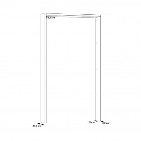 Rama Dulap Olivier, 131 x 23,8 x 228,3 cm-01