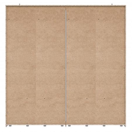 Dulap 2 Usi Culisante + 2 Oglinzi Olivier, 220,1 x 62 x 223 cm-01