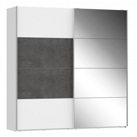 Dulap 2 Usi Culisante + 1 Oglinda Olivier, 220,1 x 62 x 223 cm-01
