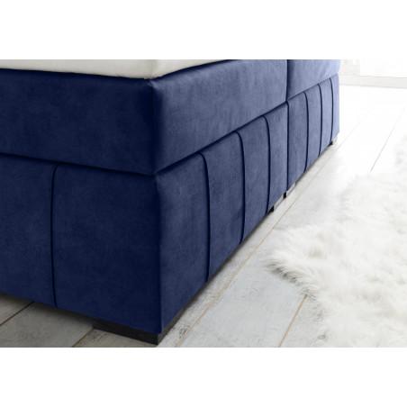 Pat Boxsprings Prato Cu Saltea Si Somiera Inclusa, Albastru, 180 x 200 cm-01