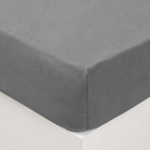 Cearsaf elastic, Gri, 160 x 200 cm
