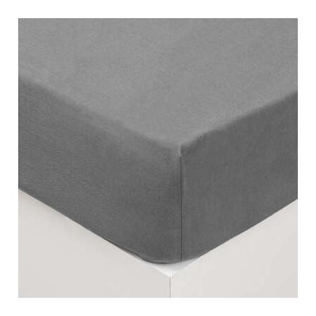 Cearsaf elastic, Gri, 160 x 200 cm-01