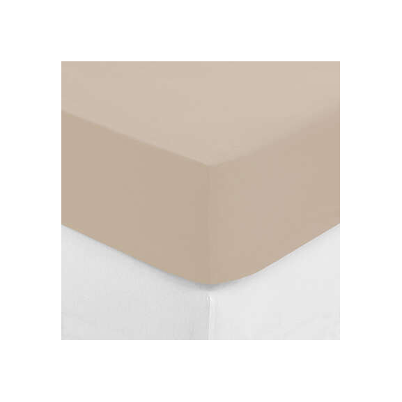 Cearsaf elastic Bej, 160 x 200 cm