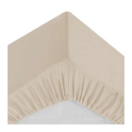 Cearsaf elastic Bej, 160 x 200 cm-01