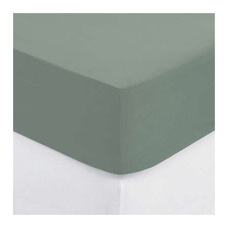 Cearsaf elastic Kaki, 160 x 200 cm-01