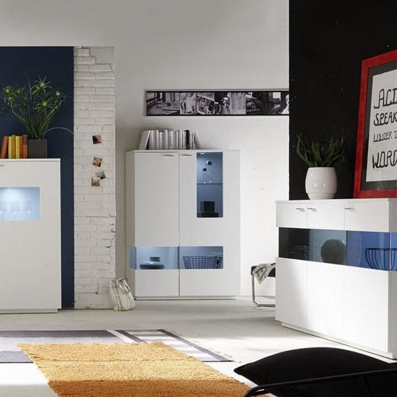 Set Living Commo 04, Alb Mat, 2170 x...