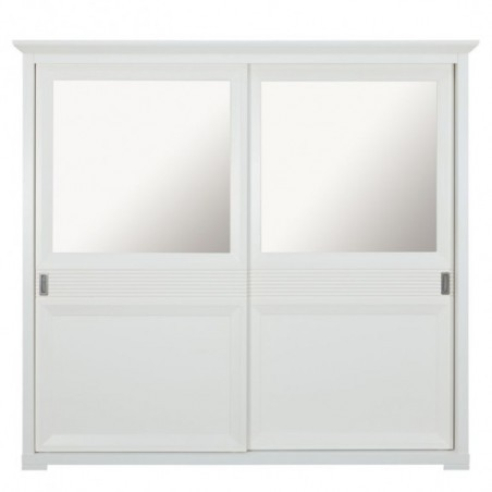 Dulap dormitor Verona Bianco, Alb, 2190 x 665 x 2036 mm.-01