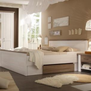 Set Dormitor Leon, Pin Alb...