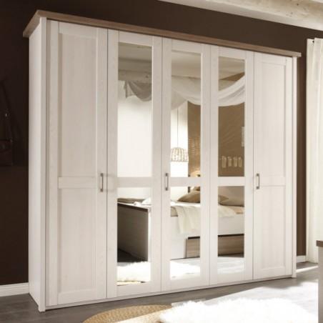 Set Dormitor Leon, Pin Alb & Truffle, Pat 1800-01