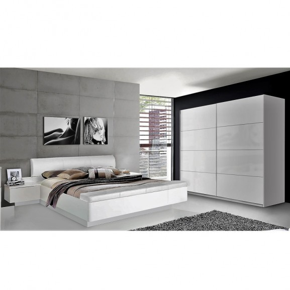 Dormitor Stella, Alb lucios