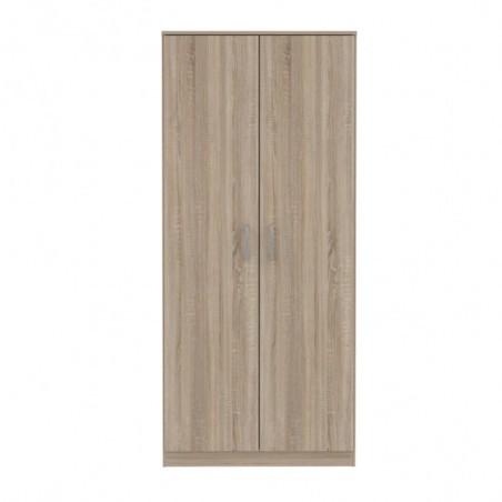 Dulap 2U Nikole, Stejar Sonoma, 820 x 1850 x 527 mm.-01
