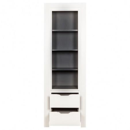 Biblioteca 2S Cube, Alb, 660 x 420 x 1950 mm.-01