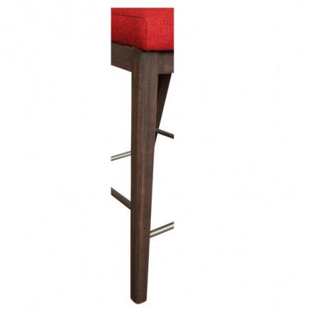 Scaun Bar Sofie, Rosu, 430 x 570 x 990 mm.-01