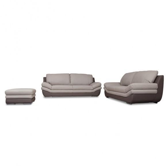 Set canapele cu taburet Nardo, Gri...