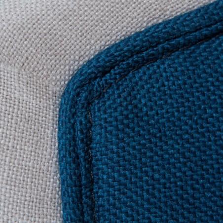 Scaun Amanda, Alb/Albastru, 595 x 640 x 970 mm.-01