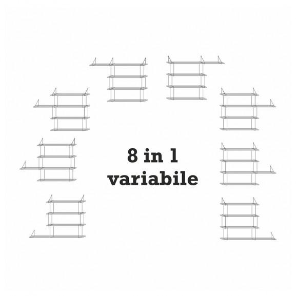 Raft modular 12 Tiki, Negru/Alb naturlich.ro