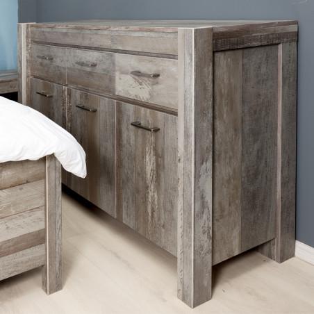 Comoda 3U Moonstone, Driftwood, 1490 x 880 x 460 mm.-01