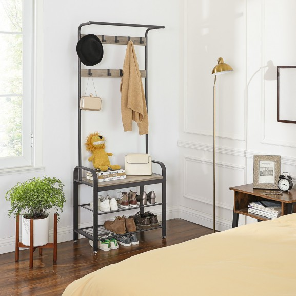 Cuier haine Vintage gri lemn 720 naturlich.ro