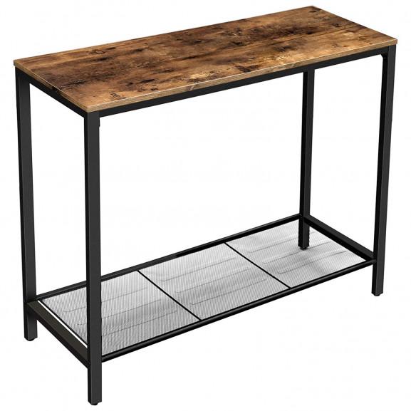 Masa consola Vintage polita lemn 1000 x 350 naturlich.ro