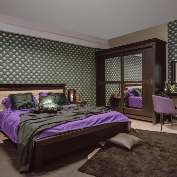 Dormitor Saigon, Charcoal, Pat 1600 mm.