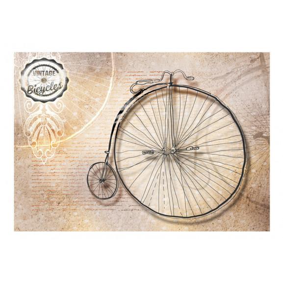 Fototapet Vintage Bicycles Sepia 100 cm x 70 cm naturlich.ro