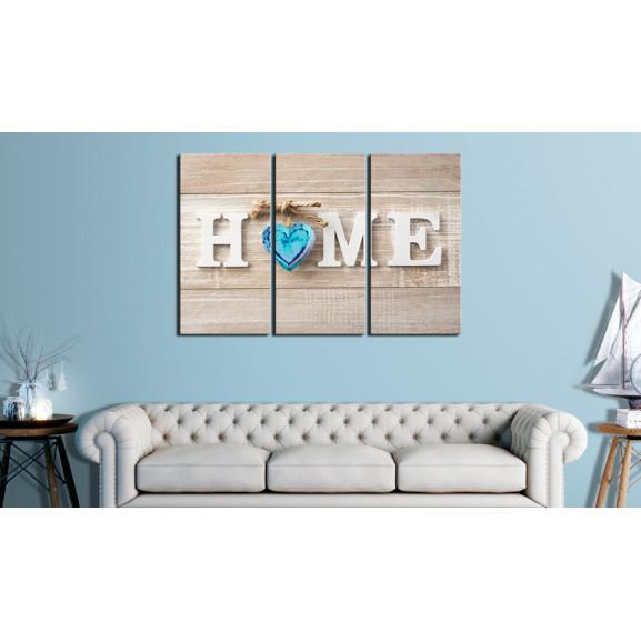 Tablou Home: Blue Love 120 cm x 80 cm naturlich.ro